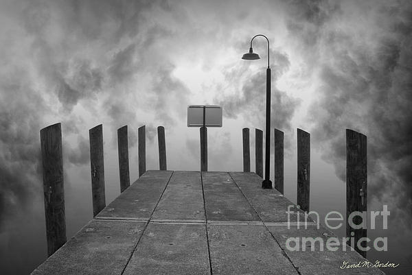 Dock And Clouds Print by David Gordon