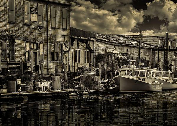 Dockside Print by Bob Orsillo
