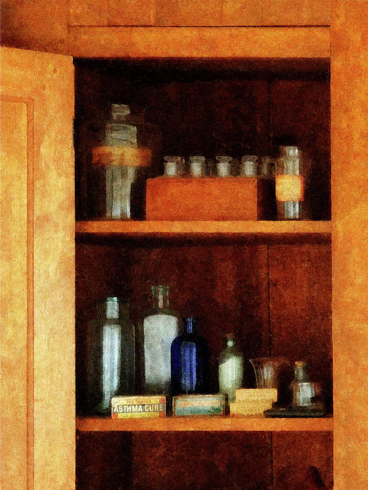 Doctor - Medicine Chest With Asthma Medication Print by Susan Savad