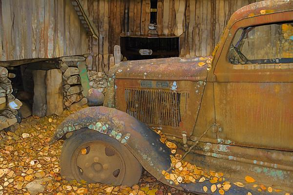 Dodge Truck Autumn Abstract Print by Dan Sproul
