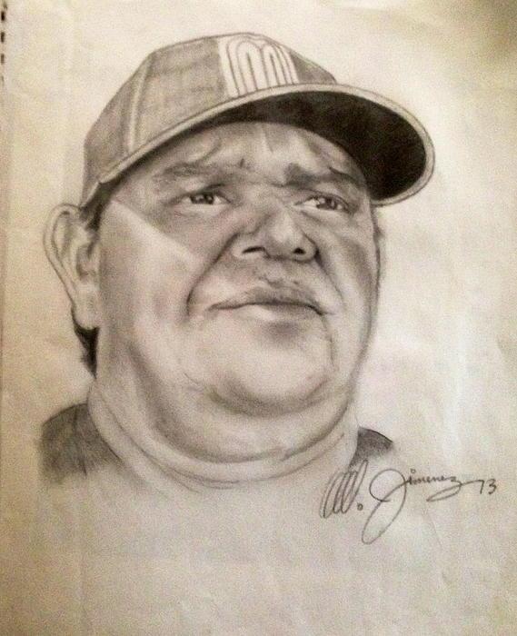 Dodger Legend Valenzuela Print by Mario  Jimenez