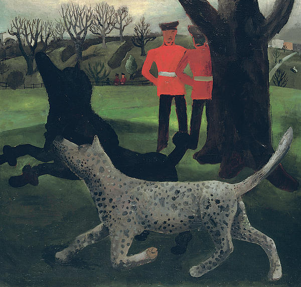 Dogs At Play Print by Christopher Wood