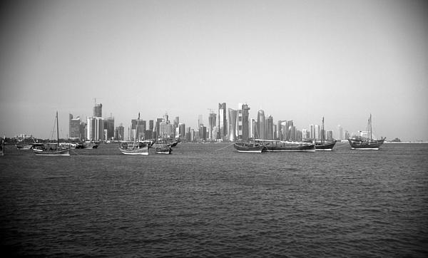 Doha Dhow Display Print by Paul Cowan