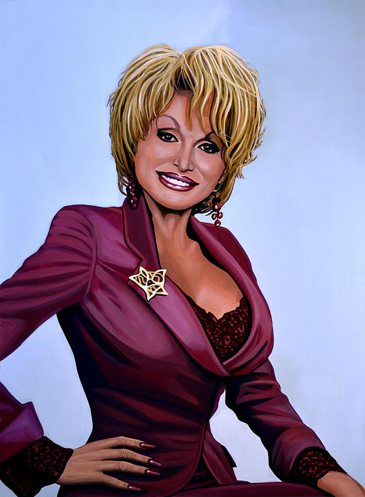 Dolly Parton Print by Paul  Meijering