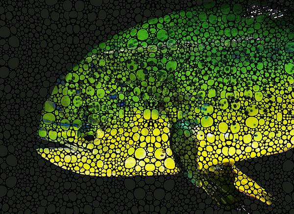 Dolphin Fish Art By Sharon Cummings Print by Sharon Cummings