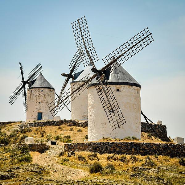Don Quixote's Windmills Print by Tetyana Kokhanets