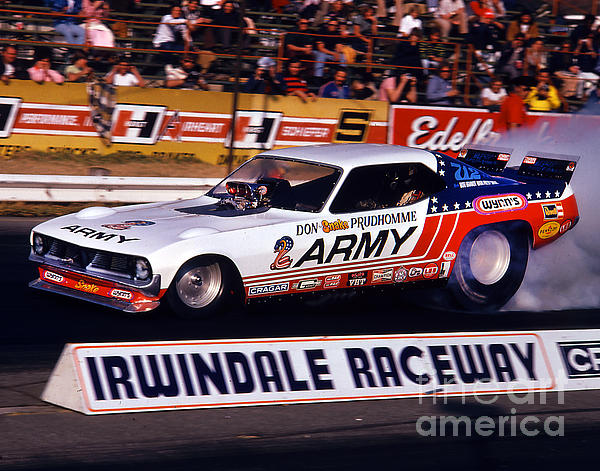 Don The Snake Prudhomme Irwindale Raceway 1970s Print by Howard Koby