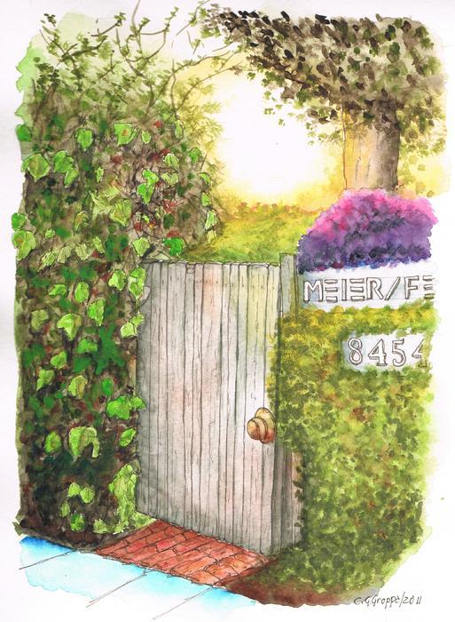 Door Meir Studio Melrose Place - Los Angeles - California Print by Carlos G Groppa