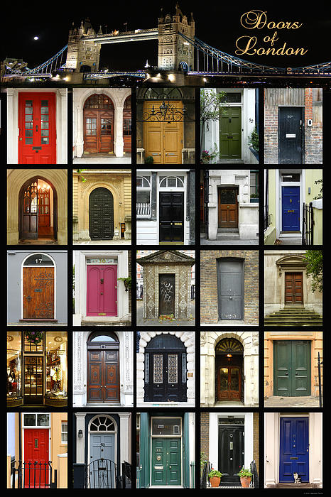 Doors Of London II Print by Heidi Hermes
