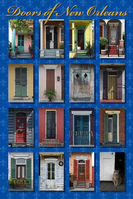 Doors Of New Orleans Print by Heidi Hermes