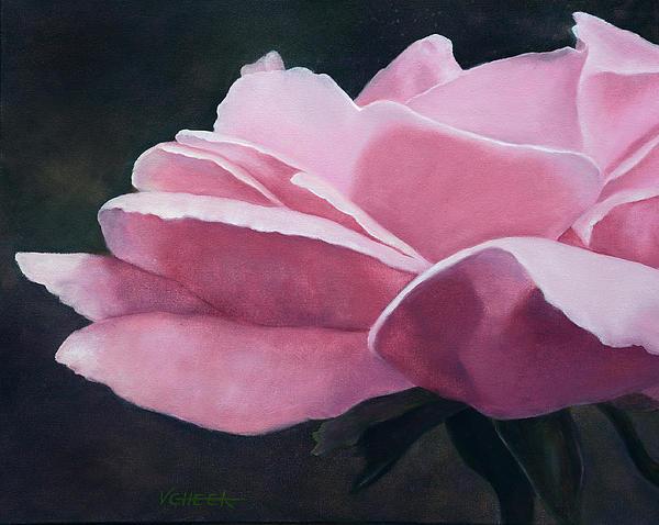 Dow Garden Rose Print by Vickie Sue Cheek