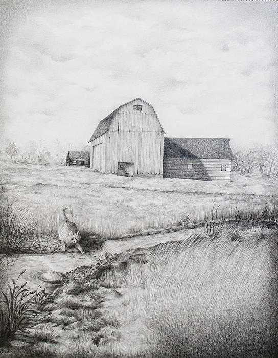 Down By The Stream Print by Emily Wickerham