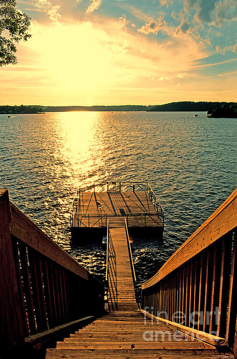 Down to the fishing dock lake of the ozarks mo by debbie for Lake of the ozarks fishing