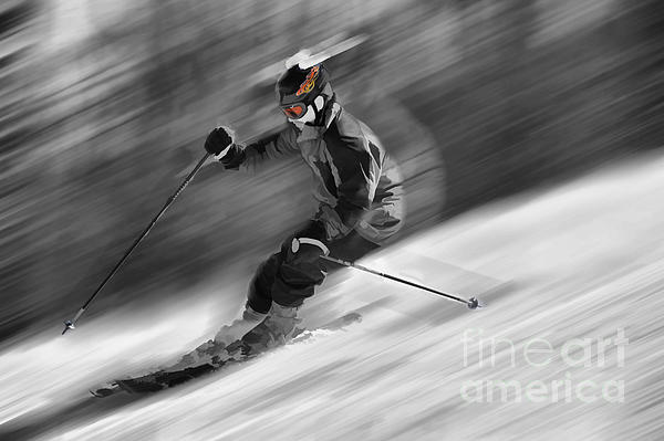 Downhill Skier  Print by Dan Friend