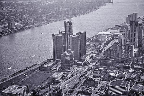 Downtown Detroit Print by Nicholas  Grunas
