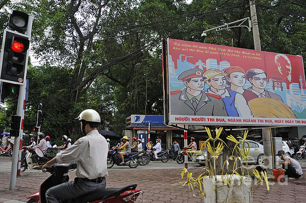 Downtown In Hanoi Print by Sami Sarkis
