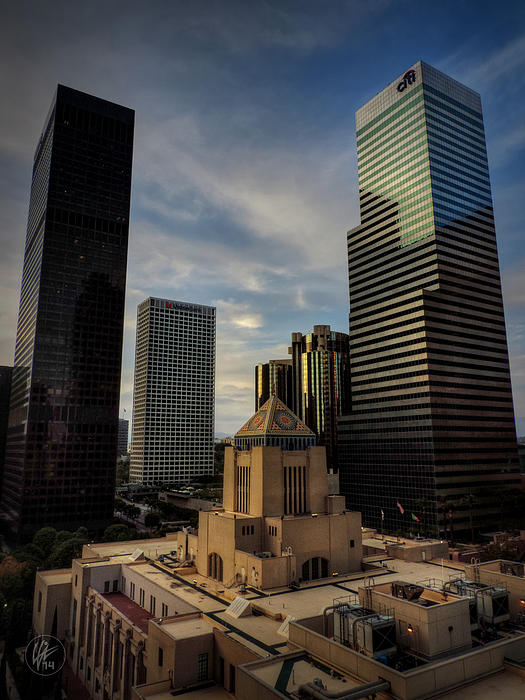 Downtown Los Angeles 004 Print by Lance Vaughn