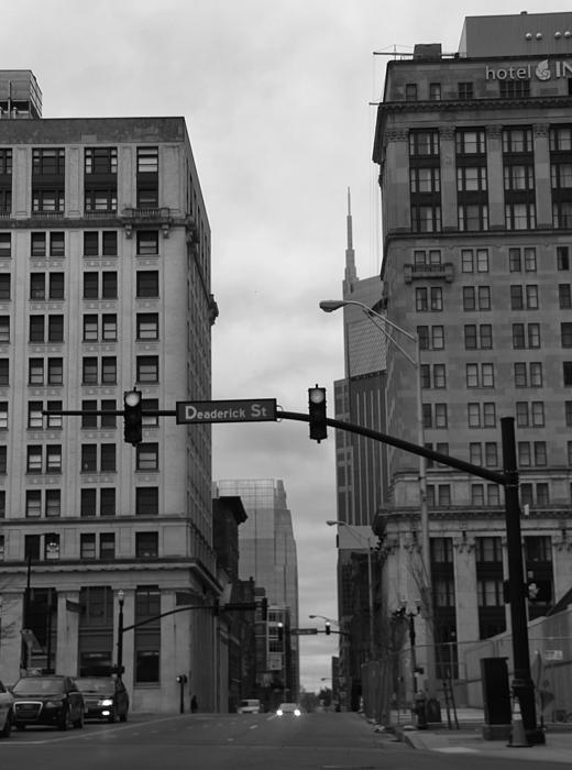 Downtown Nashville In Black And White Print by Dan Sproul