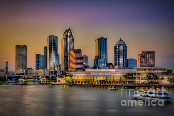 Downtown Tampa Print by Marvin Spates