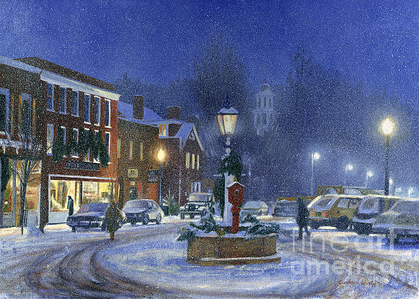Downtown Woodstock Print by Candace Lovely