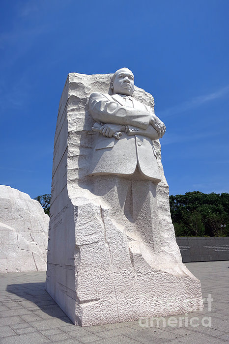 Dr Martin Luther King Memorial Print by Olivier Le Queinec