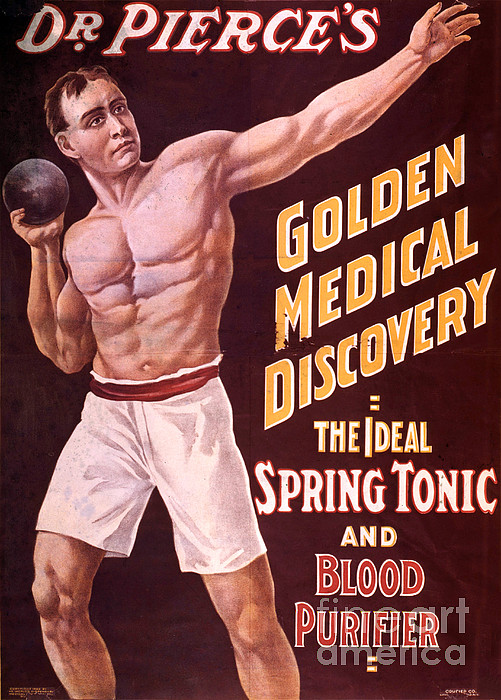 Dr Pierces Spring Tonic And Blood Print by Science Source