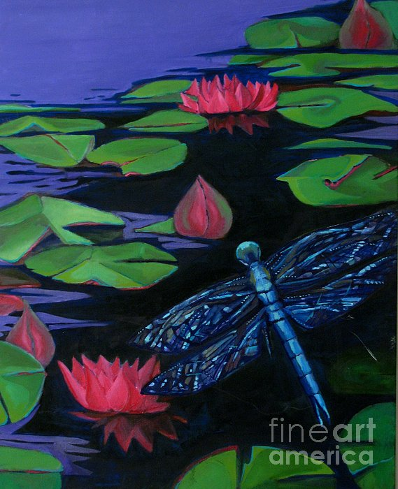 Dragon Fly - Botanical Print by Grace Liberator