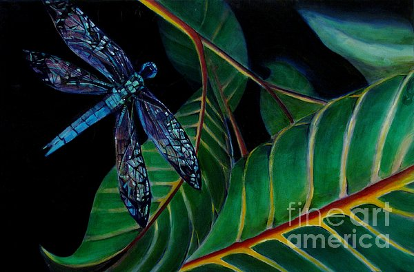 Dragon Fly Soaring - Botanical Print by Grace Liberator