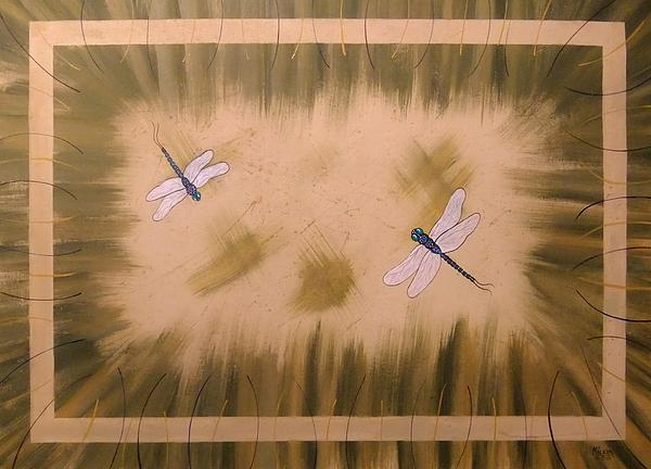 Dragonfly Meadow Print by Cindy Micklos