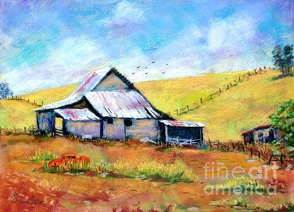 Drapper Valley Barn Print by Bruce Schrader
