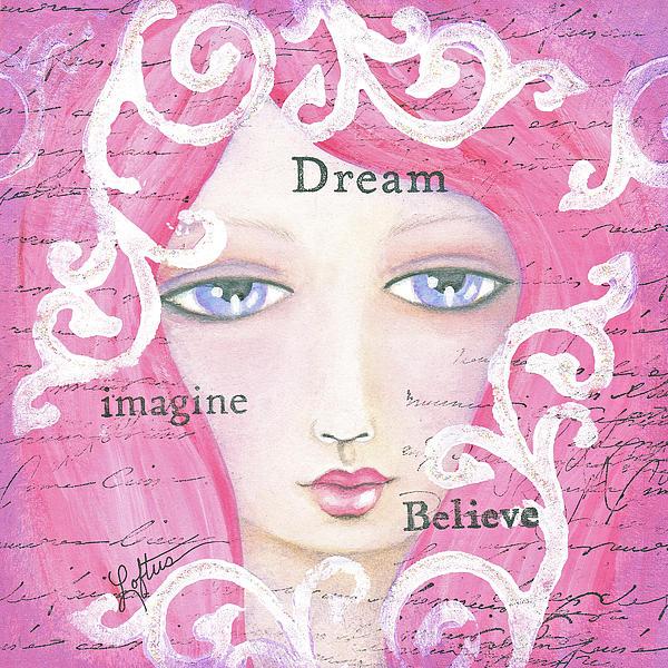 Dream Girl Print by Joann Loftus