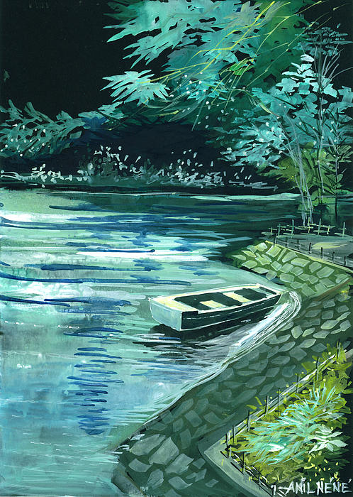 Dream Lake Print by Anil Nene