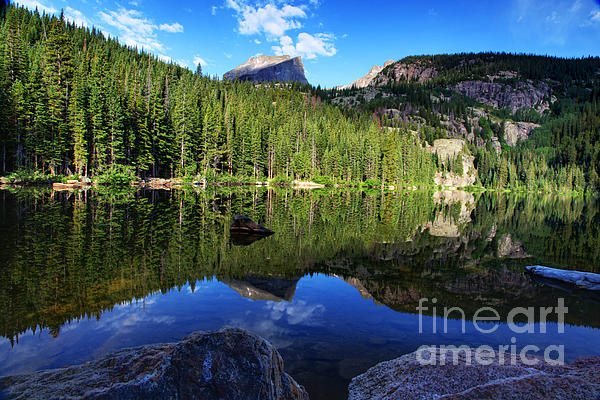 Dream Lake Rocky Mountain National Park Print by Wayne Moran