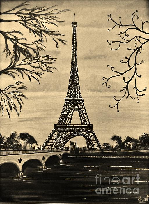Dreaming Of Paris 2 Print by Brigitte Emme