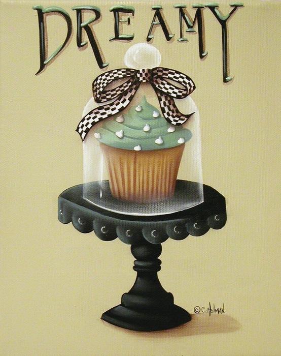 Dreamy Cupcake Print by Catherine Holman