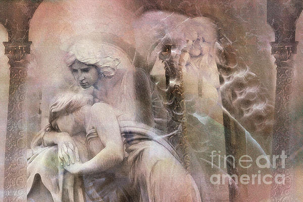Dreamy Ethereal Impressionistic Angel Art  Print by Kathy Fornal