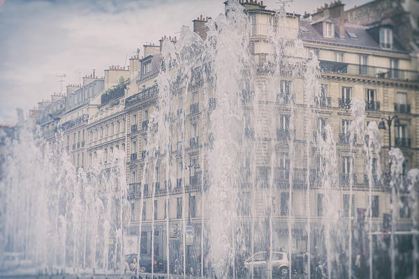 Dreamy Paris Fountains Print by Georgia Fowler