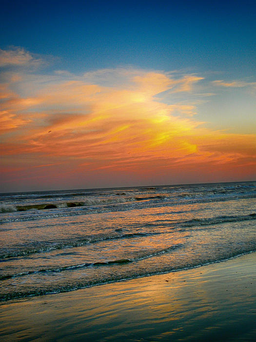 Dreamy Texas Sunset Print by Kristina Deane