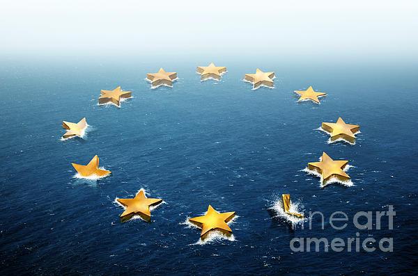 Drifting Europe Print by Carlos Caetano