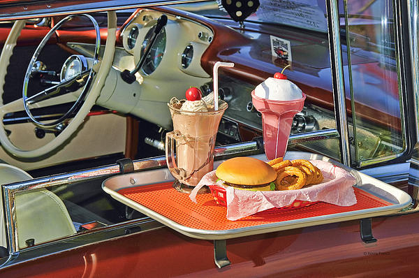 Drive-in Memories Print by Kenny Francis