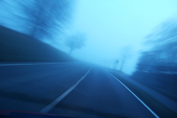Matthias Hauser - Driving fast - blue and blurred