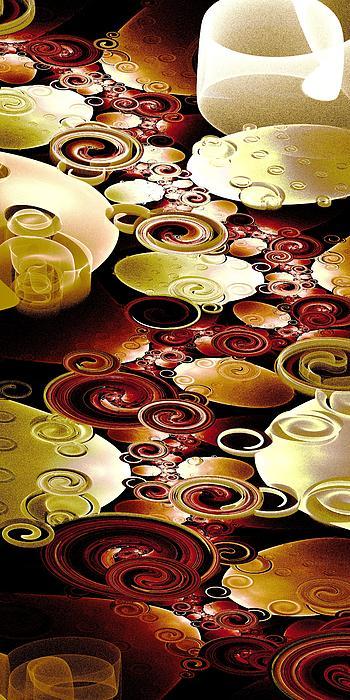 Drops And Ripples Print by Anastasiya Malakhova