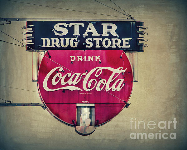 Drug Store Neon Print by Perry Webster