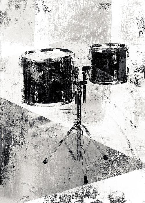 Drum Kit Print by David Ridley