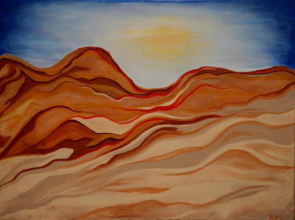 Dubai Desert Print by Kathy Peltomaa Lewis