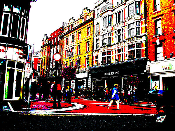 Dublin City Vibe Print by Charlie and Norma Brock