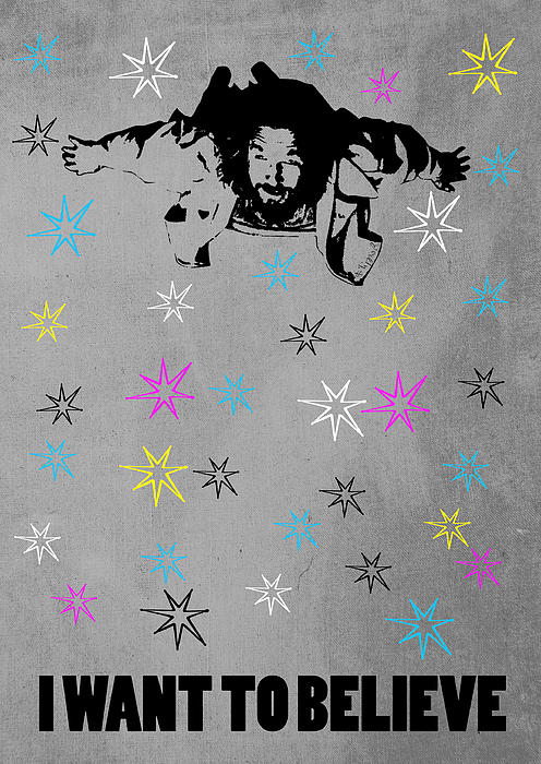 Dude I Want To Believe 3 Print by Filippo B
