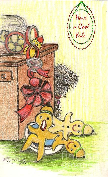 Duke's Yule Bowl Print by Sigrid Tune
