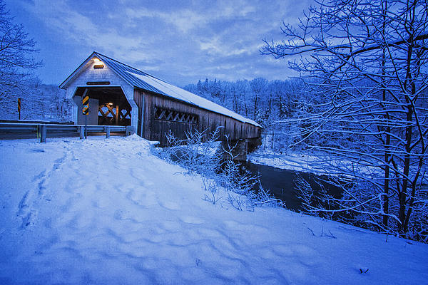 Tom Singleton - Dummerston, Vermont Covered Bridge in Winter