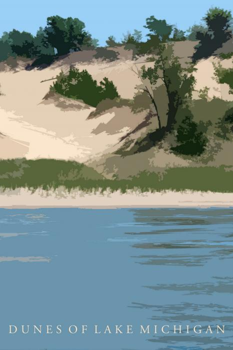 Dunes Of Lake Michigan Print by Michelle Calkins